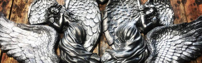 'Angel Wings' a lead art sculpture by Geo Gargan