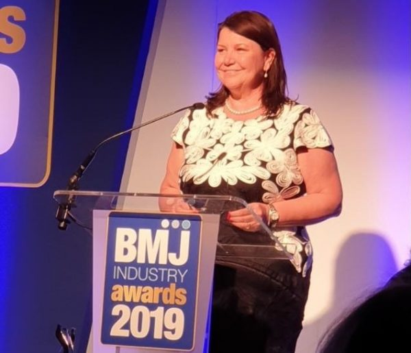 Lynn Street sales and marketing manager at Midland Lead at the BMJ Industry Awards 2019